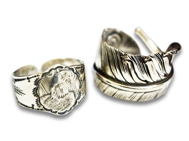 【CHOOKE/チョーク】「Special Peace Feather Ring&Eaglehead Ring Set/スペシャルピースフェザーリング&イーグルヘッドリングセット」(C-22D)【送料・代引き手数料無料】【あす楽対応】(オールドコイン/アンティークコイン)