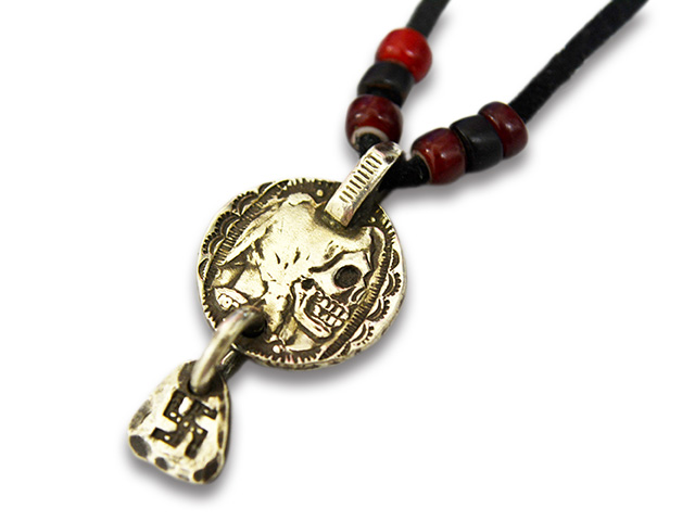 "【CHOOKE/チョーク】「Indian Skull Coinchip Metal""Swastika""/インディアンスカルコインチップメタル""スワスティカ""」(C-25A)【送料・代引き手数料無料】【あす楽対応】(オールドコイン/ネイティブアクセサリー)"