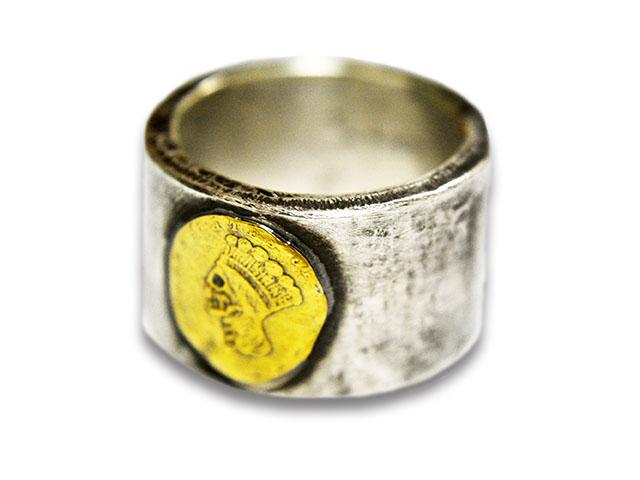 【CHOOKE/チョーク】「Coin Silver Heavy Ring/コインシルバーヘビーリング」(C-28A)【送料・代引き手数料無料】【あす楽対応】(アメカジ/ハーレー/オールドコイン/アンティークコイン/ヴィンテージコイン/ネイティブアクセサリー)