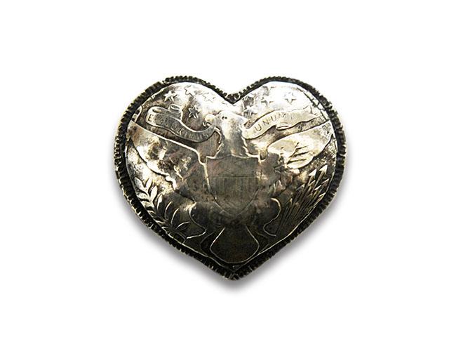 【CHOOKE/チョーク】「Eagle Heart Barber Half Pins/イーグルハートバーバーハーフピンズ」(C-29F)【送料・代引き手数料無料】【あす楽対応】(アメカジ/ハーレー/オールドコイン/ネイティブアクセサリー)