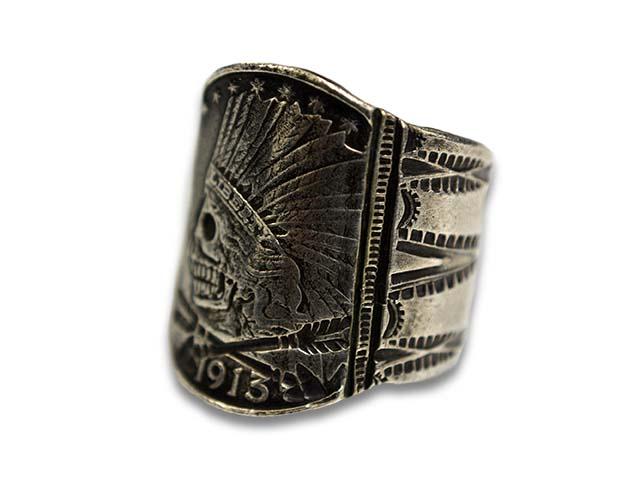 "【CHOOKE/チョーク】""Indian Skull Ring-L/インディアンスカルリング-L""(C-3)【送料・代引き手数料無料】【あす楽対応】(オールドコイン/アンティークコイン/ヴィンテージコイン/ネイティブアクセサリー)"