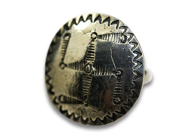 【CHOOKE/チョーク】「Barber Many Stamp Swastika Ring/バーバーメニースタンプスワスティカリング」(C-30C)【送料・代引き手数料無料】【あす楽対応】(アメカジ/ハーレー/オールドコイン/ネイティブアクセサリー)