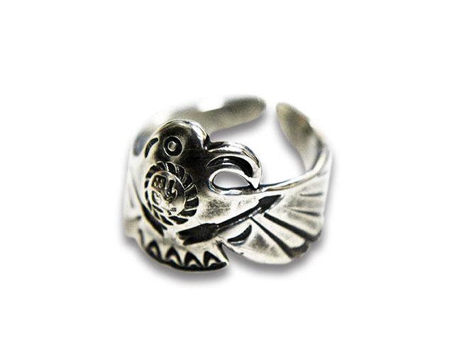 【CHOOKE/チョーク】「Satiety Bird Bar Ring/サーティエティーバードバーリング」(C-31A)【送料・代引き手数料無料】【あす楽対応】(アメカジ/ハーレー/オールドコイン/ネイティブアクセサリー)