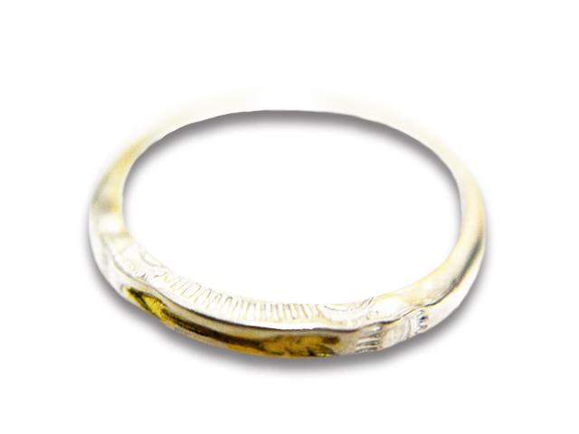 """【CHOOKE/チョーク】「Round Stamp Ring""""Arrow""""/ラウンドスタンプリング""""アロー""""」(O-19B/K18)【送料・代引き手数料無料】【あす楽対応】(アメカジ/ハーレー/オールドコイン/ネイティブアクセサリー)"""