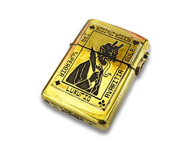 【GANGSTERVILLE/ギャングスタービル】×【galcia/ガルシア】「Devil Brass Zippo/デビルブラスジッポ」(GSG-ZP002B)【送料・代引き手数料無料】【あす楽対応】(WEIRDO/ウィアード/GLAD HAND/グラッドハンド)