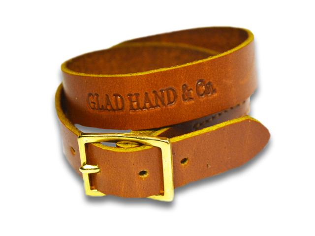 全2色【GLAD HAND/グラッドハンド】「North&Judd Leather Bracelet/ノース&ジャッドレザーブレスレット」【送料・代引き手数料無料】【あす楽対応】(GANGSTERVILLE/ギャングスタービル/WEIRDO/ウィアード/アメカジ/ハーレー/プレゼント)