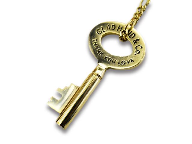 【GLAD HAND/グラッドハンド】「Key Pendant Top&Necklace Chain/キーペンダントトップ&ネックレスチェーン」(K10 Gold)【送料・代引き手数料無料】【あす楽対応】(GANGSTERVILLE/ギャングスタービル/WEIRDO/ウィアード/アメカジ/アクセサリー/プレゼント)