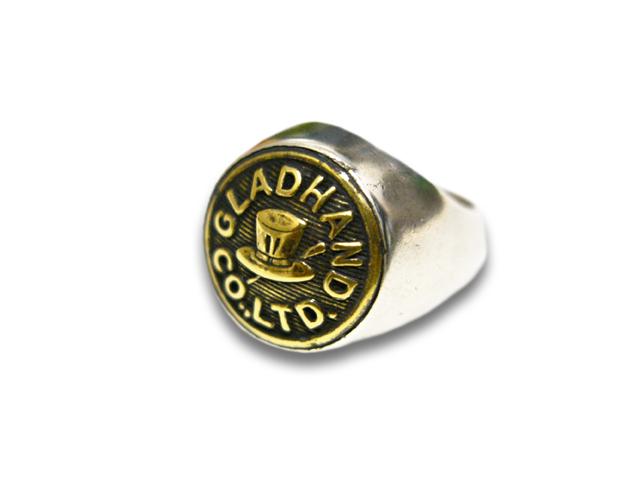 """【GLAD HAND/グラッドハンド】「Button Ring""""Hat Small""""/ボタンリング""""ハットスモール""""」【送料・代引き手数料無料】【あす楽対応】(GANGSTERVILLE/ギャングスタービル/WEIRDO/ウィアード/アメカジ/アクセサリー/プレゼント)"""