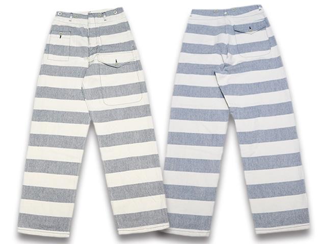 """【JELADO""""Pirate Of Blue""""/ジェラード""""パイレーツオブブルー""""】2019SS「Sea Rover Trousers/シーローバートラウザーズ」(AG41330)【送料・代引き手数料無料】【あす楽対応】(John Gluckow/ジョングラッコー/アメカジ/ハーレー/バイカー/囚人パンツ)"""