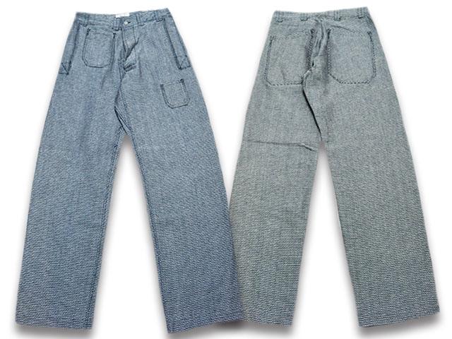 【John Gluckow/ジョングラッコー】2019SS「Sashiko Net Maker's Trousers/刺し子ネットメーカーズトラウザーズ」(JG41305)【送料・代引き手数料無料】【あす楽対応】(JELADO/ジェラード/アメカジ/デニム/インディゴ/ハーレー/ヴィンテージ/ホットロッド)