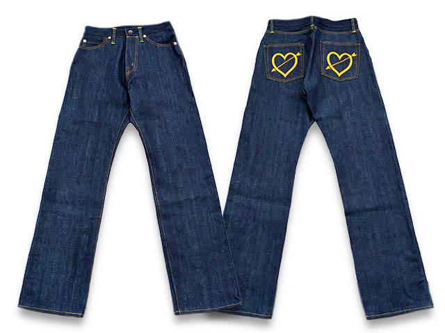 """【Miss Ladybug/ミスレディーバグ】2020SS「Straight Pants""""Arrow Heart""""/ストレートパンツ""""アローハート""""」(MLB-20-SS-04)【あす楽対応】(GANGSTERVILLE/ギャングスタービル/WEIRDO/ウィアード/GLAD HAND/グラッドハンド/アメカジ/レディース/WOLF PACK)"""