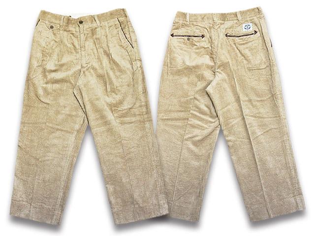 【SIRANO BROS/シラノブロス】2019AW「4/5 Length Cords Pleated Work Trousers/4/5レングスコーズプリーテッドワークトラウザース」【送料・代引き手数料無料】【あす楽対応】(SUGI SACK/スギサック/アメカジ/ハーレー/ホットロッド)