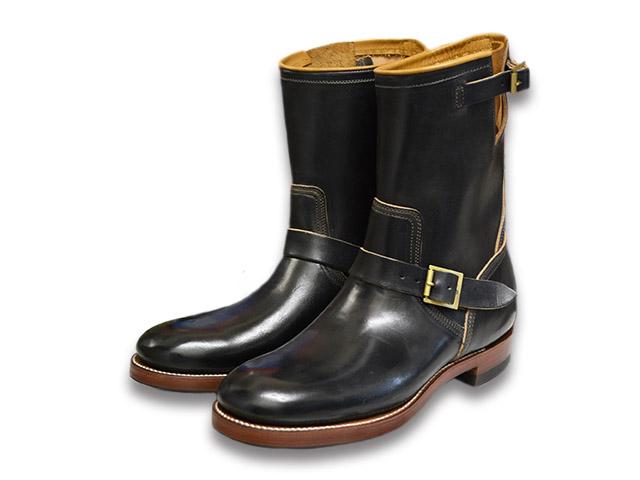 """【CLINCH/クリンチ】「9inch Engineer Boots""""Classic Narrow""""/9インチ エンジニアブーツ""""クラシックナロー""""」(ホースバットブラック)【送料・代引き手数料無料】【あす楽対応】(BRASS TOKYO/ブラス東京/エンジニアブーツ/ワークブーツ/クリンチブーツ/ハーレー)"""