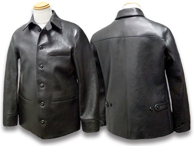 "【FINE CREEK LEATHERS/ファインクリークレザーズ】「30's Leather Car Coat""Gilmour""/30'sレザーカーコート""ギルモア""」(FCCO001)【送料・代引き手数料無料】【ご予約商品】(FINE CREEK&CO/ファインクリークアンドコー/MOSIR/モシール/CWORKS/シーワークス)"