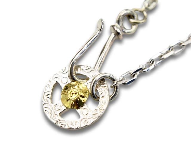 【FIRST ARROW's/ファーストアローズ】「Medium Necklace Chain with Medicine Wheel with K18/K18付きメディスンホイール付きミディアムネックレスチェーン」(O-062+P-077B/50cm)【送料・代引き手数料無料】【あす楽対応】(アメカジ/ハーレー/アクセサリー)