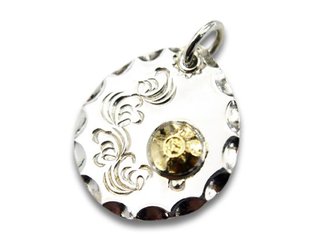 """【FIRST ARROW's/ファーストアローズ】「Arabesque Carving Metal Top with K18""""25φ""""/K18付き唐草タタキメタルトップ""""25φ""""」(P-365)【送料・代引き手数料無料】【あす楽対応】(アメカジ/ハーレー/バイカー/アクセサリー/プレゼント)"""