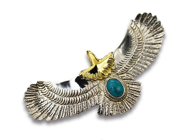 【FIRST ARROW's/ファーストアローズ】「Medium Eagle with Turquoise/ターコイズ付きミディアムイーグル」(P-510)【送料・代引き手数料無料】【あす楽対応】(アメカジ/ハーレー/バイカー/アクセサリー/プレゼント)