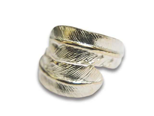 【FIRST ARROW's/ファーストアローズ】「Double Small Feather Ring/ダブルスモールフェザーリング」(R-156)【送料・代引き手数料無料】【あす楽対応】(アメカジ/ハーレー/バイカー/アクセサリー/プレゼント)