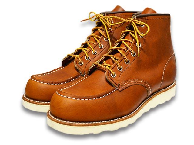 """ケアグッズ1点サービス【RED WING/レッドウイング】「6 inch Classic Work Boots""""Moc Toe""""/6インチクラシックワークブーツ""""モックトゥ""""」(875/Oro""""Legacy"""")【送料・代引き手数料無料】【あす楽対応】(ハーレー/アメカジ/アイリッシュセッター)"""