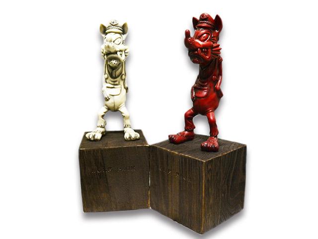 """【WOLF PACK/ウルフパック】×【RMODELS/アールモデルス】「Wolf Figure""""One Color""""/ウルフフィギュア""""ワンカラー""""」【送料・代引き手数料無料】【あす楽対応】(Lucky Rudy/ラッキールーディー/ハーレー/バイカー/バイク/アメカジ/プレゼント)"""