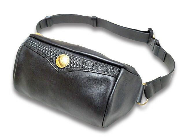 【Round head/ラウンドヘッド】「2Way Body Bag/2ウェイボディバッグ」【送料・代引き手数料無料】【あす楽対応】(手巻きタバコ/ハーレー/バイク/バイカー/ハンドメイド/財布/手縫い/ハーレー/アメカジ/ウエストバッグ/鞄/プレゼント)