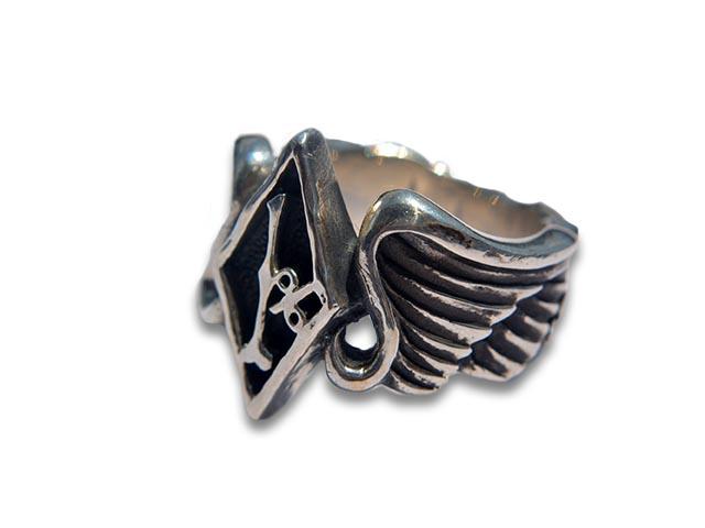 【SKULL FLIGHT/スカルフライト】Silver950 1% Wing Ring/シルバー950製1%ウイングリング【送料・代引き手数料無料】【受注生産】(CALIFORNIA LINE/カリフォルニアライン)