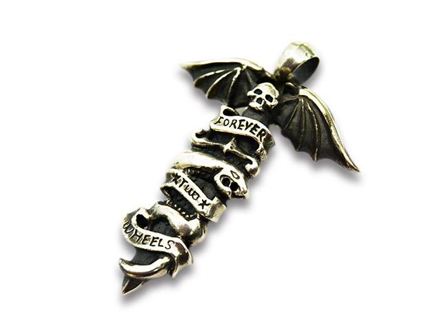 【SKULL FLIGHT/スカルフライト】「Silver950 Dagger Snake Pendant Top/シルバー950ダガースネークペンダントトップ」【送料・代引き手数料無料】【あす楽対応】(CALIFORNIA LINE/カリフォルニアライン/ハーレー/バイカー)
