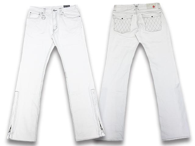 """【SKULL FLIGHT/スカルフライト】「SS Pants Type2 Boots Cut""""Hard Pique Leather Pocket""""/SSパンツタイプ2ブーツカット""""ハードピケレザーポケット""""」【送料・代引き手数料無料】【あす楽対応】(CALIFORNIA LINE/カリフォルニアライン/ハーレー/バイク)"""