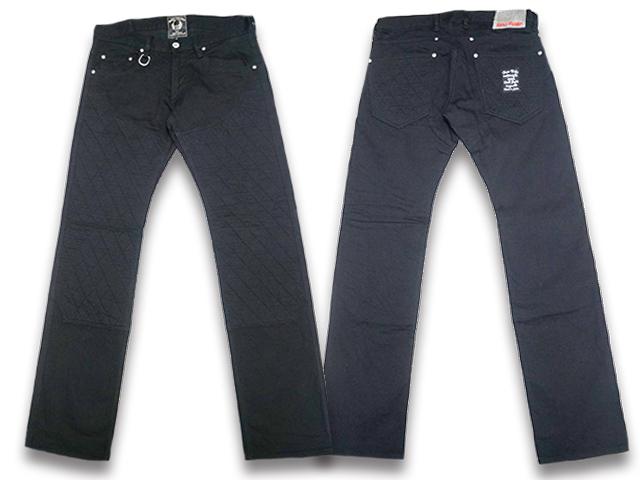 """【SKULL FLIGHT/スカルフライト】「SS Pants Type6 Straight Cut""""Double Knee Stretch Denim""""/SSパンツタイプ6ストレートカット""""ダブルニーストレッチデニム""""」(BK×BK)【送料・代引き手数料無料】【あす楽対応】(CALIFORNIA LINE/カリフォルニアライン)"""