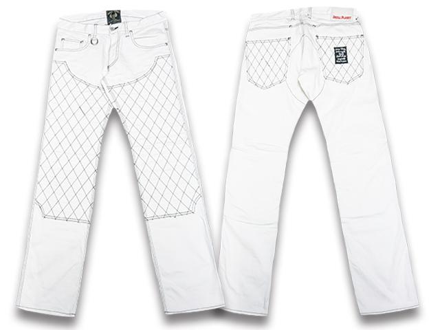 """【SKULL FLIGHT/スカルフライト】「SS Pants Type6 Straight Cut""""Double Knee Stretch Denim""""/SSパンツタイプ6ストレートカット""""ダブルニーストレッチデニム""""」(ホワイト)【送料・代引き手数料無料】【あす楽対応】(CALIFORNIA LINE/カリフォルニアライン)"""