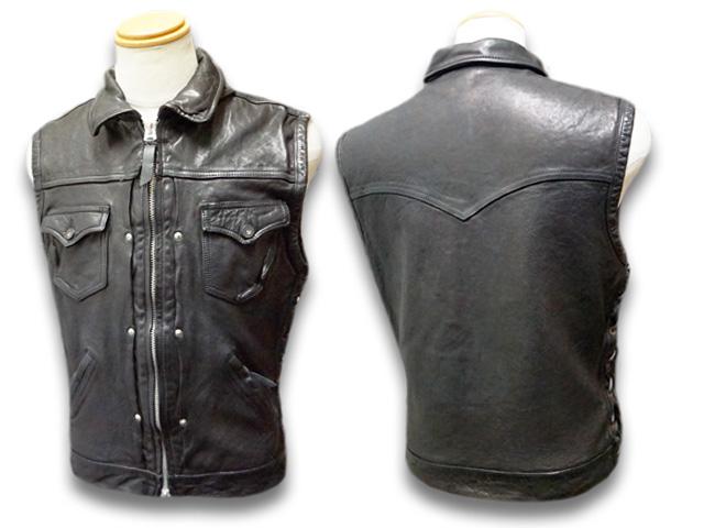 "【SKULL FLIGHT/スカルフライト】「Riders Sheepskin Club Zip Vest""Full Collar""/ライダースシープスキンクラブジップベスト""フルカラー""」【送料・代引き手数料無料】【あす楽対応】(CALIFORNIA LINE/カリフォルニアライン/ハーレー/バイカー/アメカジ)"