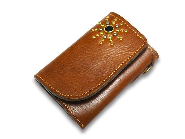 【Vin&Age/ヴィンアンドエイジ】「Leather Middle Wallet/レザーミドルウォレット」(VWT1-BR)【送料・代引き手数料無料】【あす楽対応】(ハーレー/オールドスクール/スタッズ/アメカジ/メンズ/プレゼント)