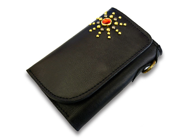 【Vin&Age/ヴィンアンドエイジ】「Leather Middle Wallet/レザーミドルウォレット」(VWT1-BK)【送料・代引き手数料無料】【あす楽対応】(ハーレー/オールドスクール/スタッズ/アメカジ/メンズ/プレゼント)