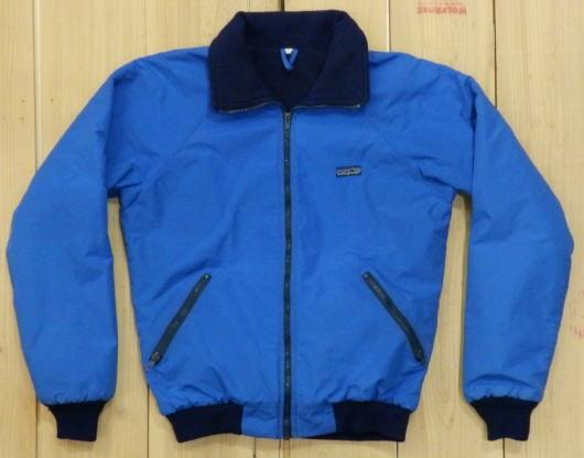 【中古】パタゴニア 古着 PATAGONIA ナイロン&フリース ジャケット OLDタイプ 80S ブルー MADE IN USA