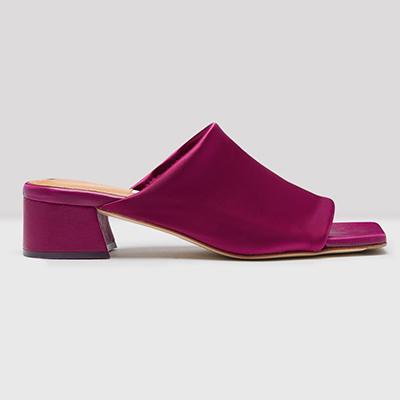 ミスタ miista カテリーナ CATERINA バイオレット ライクラ サンダル Violetto Lycra Sandals【キャッシュレス還元対象】