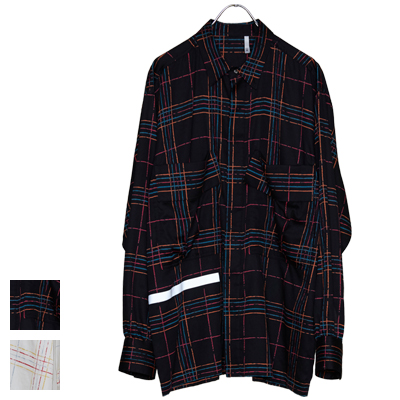 ヒューミス HUMIS ケミカルフライフロントシャツ CHEMICAL FLY-FRONT SHIRT M-SH1301B【キャッシュレス還元対象】