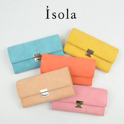 Isola(アイソラ) ギャルソンウォレット ホワイトワックス束入れ三段錠【tohoku】