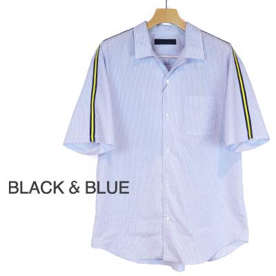 ブラックアンドブルー BLACK & BLUE スリーブライン半袖シャツ Sleeve Line S/S Shirts 126S04 2018春夏 2018SS【あす楽対応】【tohoku】