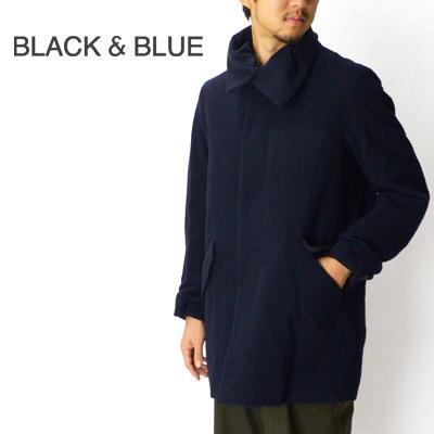 ブラックアンドブルー BLACK & BLUE パッデッドマックコート Padded Mac Coat 123C03 2016秋冬【キャッシュレス還元対象】