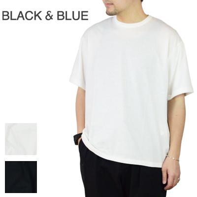 【メール便全国送料無料】ブラックアンドブルー Black & Blue パイルスリーブTシャツ Pile Sleeve TEE 124T03 2017春夏【キャッシュレス還元対象】