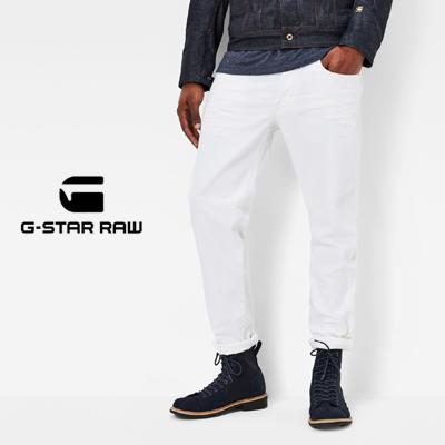 ジースターロウ G-Star RAW 3301 テーパードジーンズ 3301 Tapered Jeans ホワイトストレッチデニム 51003-6729-1241 71【tohoku】