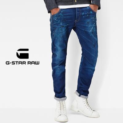 G-Star RAW ジースターロウ Arc 3D Slim Jeans アーク3Dスリムジーンズ ミディアムエイジド ペインテッド レストアド 51030.8453.7354 2016AW
