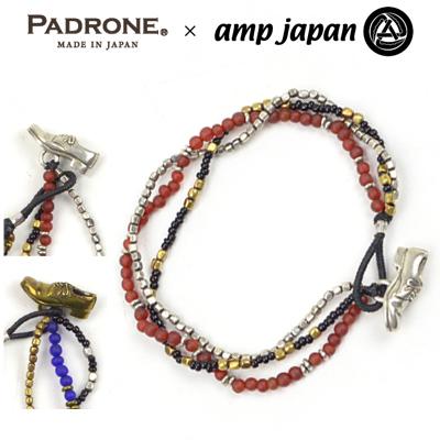 【メール便全国送料無料】パドローネ PADRONE アンプジャパン amp japan シューズコンチョアンクレット Shoe Concho Anklet PG9997-7011-16C