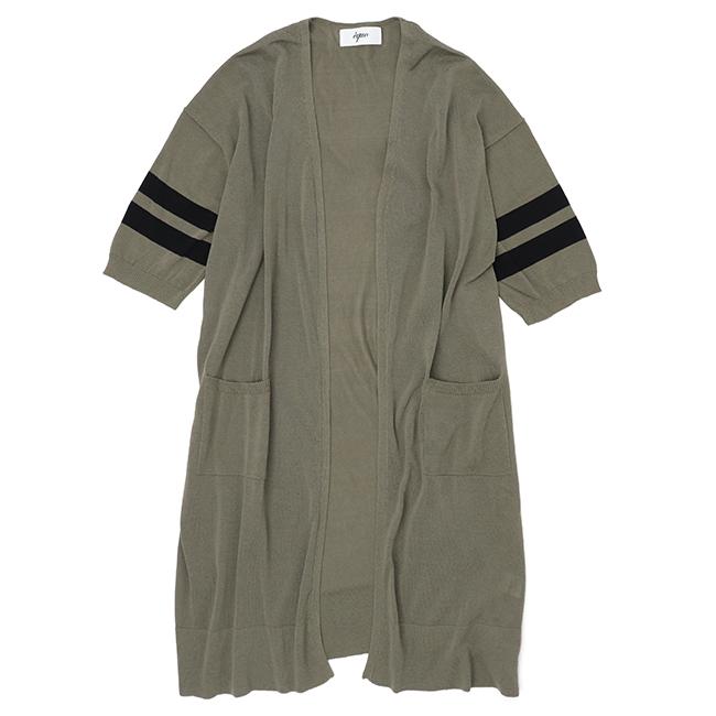 equo エクオ ポケット付きロングカーディガン七分袖