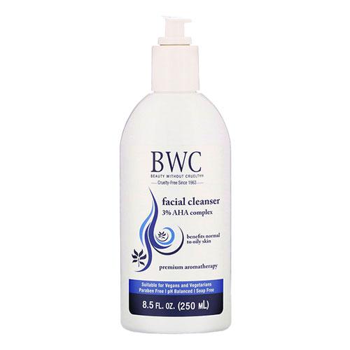 ポツポツ毛穴が気になる方に BWC フェイシャルクレンザー 新作 在庫限り 3%AHA入り 8.5floz ビューティーウィザウトクルエルティー 250ml