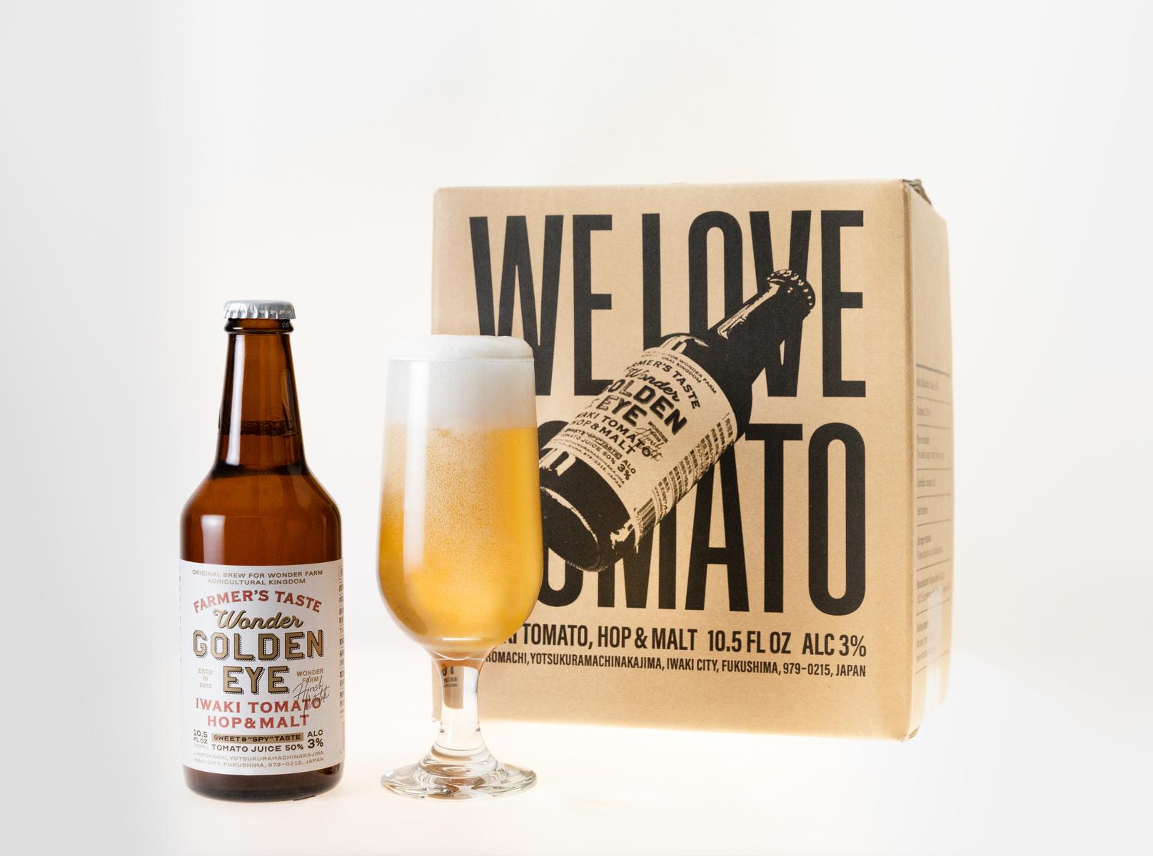 大規模セール トマト農家がつくった黄金色のレッドアイ WONDER GOLDEN EYE 6本入 トマト いわき 開店祝い 敬老の日 ワンダーファーム レッドアイ 発泡酒 ビール