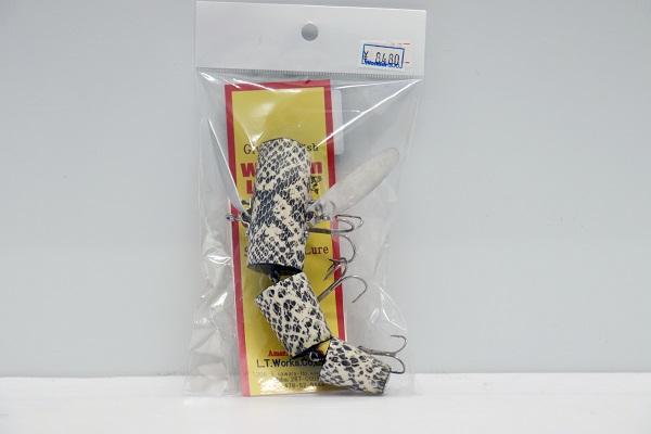【中古】未使用品 オリジナル・スネークスキン ホワイト ルアー<釣り具>(代引き不可)6546