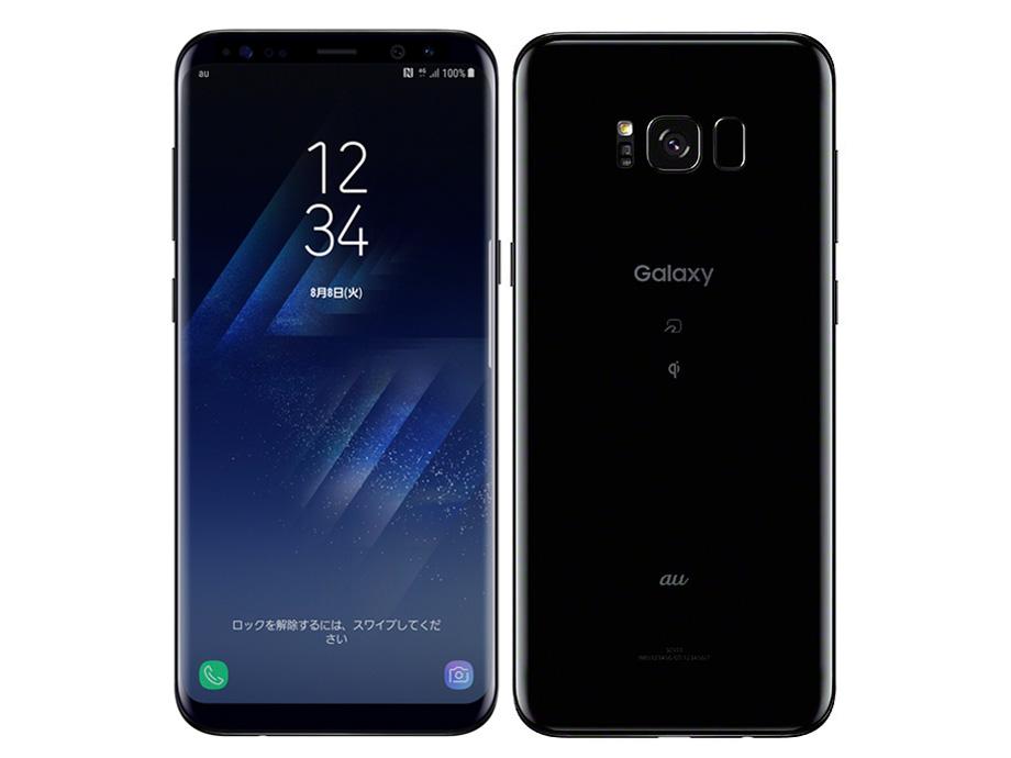 【中古】au SCV35 GALAXY S8+ 64GB ブラック Bランク<中古携帯>(代引き不可)6574