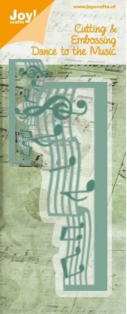 Joy Crafts NEW ジョイ 半額 クラフツ オランダ スクラップブッキング ダイカット DIY クラフト ハンドメイド アルバム作り カード作り Music ボーダー ダイ 抜型 notes 五線譜 6002-0272