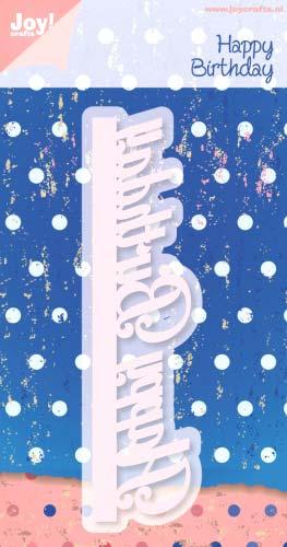 Joy Crafts ジョイ クラフツ オランダ スクラップブッキング ダイカット DIY クラフト ハンドメイド カード作り birthday 抜型 Border ダイ happy アルバム作り 買取 ハッピーバースディ テキスト※ お洒落 ボーダー 6002-0296